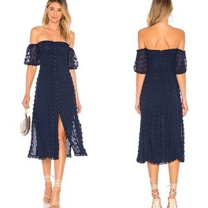 Tularosa Lori Navy Midi Dress